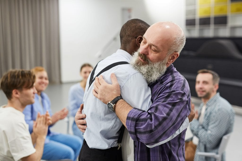 hugging in therapy